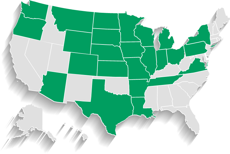 USA States Served by McC
