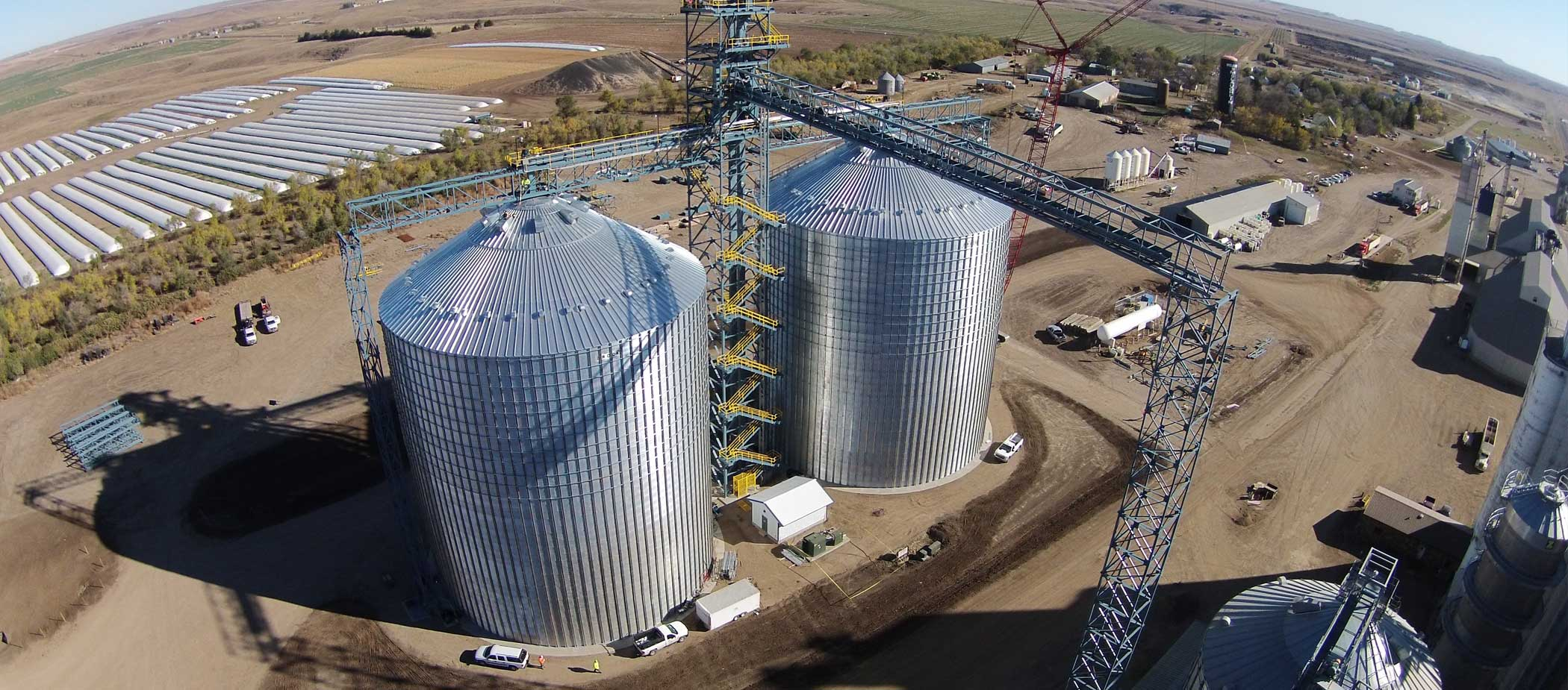 Aerial of grain processing facility
